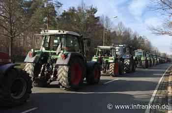 Bauern-Demo in Nürnberg behindert Verkehr: Traktoren am Volksfestplatz angekommen