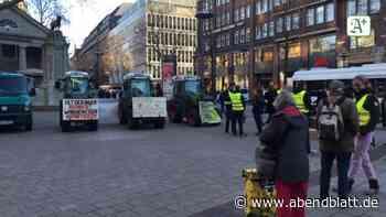 Hamburg: Warum Bauern in der City Äpfel verteilen