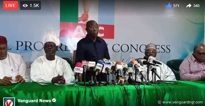 Imo: PDP reckless, trying to incite violence ― Oshiomhole