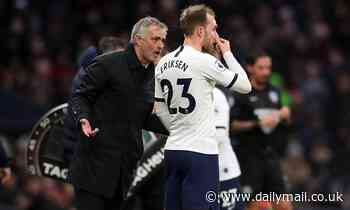 Mourinho insists Spurs have received no offer from Inter for Eriksen, and he will face Watford