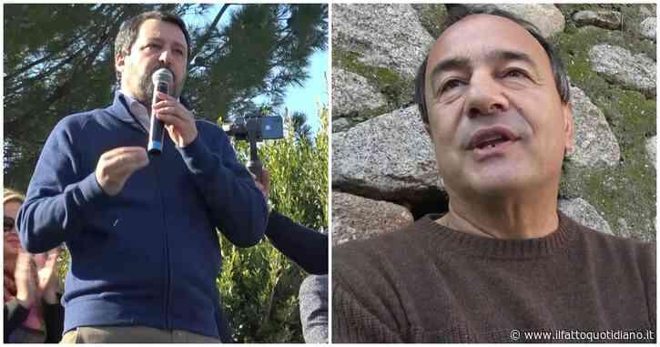 """Riace, Salvini in comizio: """"Qui la ricchezza non sono i barconi"""". La contromanifestazione con Lucano: """"Lega non sarà più primo partito"""""""