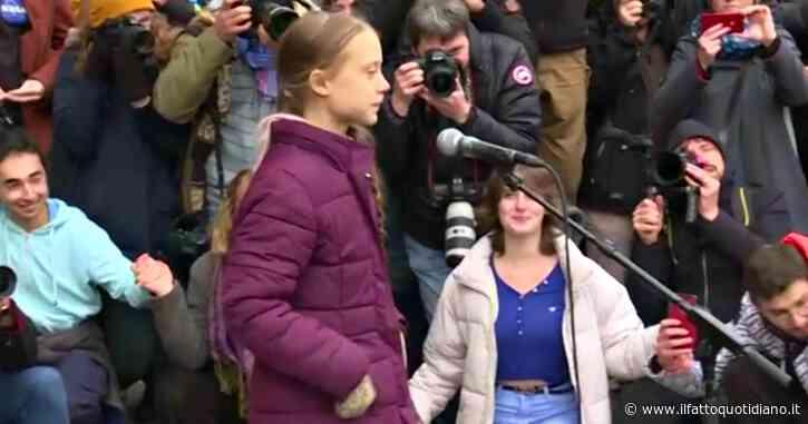"""Greta Thunberg a Losanna prima del vertice di Davos: """"Politici, questo è solo l'inizio. Non avete visto ancora nulla"""""""