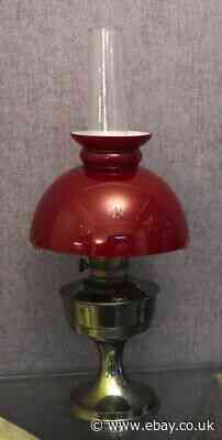 Vintage Aladdin Parafin Oil Lamp With Red Glass Shade No 23 Burner Vgc Antiques News Newslocker