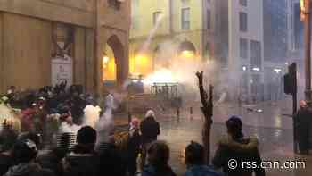Watch as protests turn violent in streets of Beirut, Lebanon