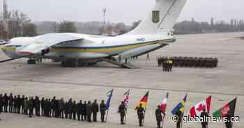 Bodies of 11 Ukrainians killed in plane crash in Iran arrive home for ceremony