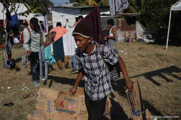 Thousands camp in Guatemala as Mexico blocks migrant path