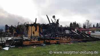 Großbrand in Brome - es ist nur eine Ruine übrig