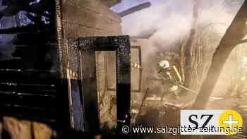 Jugendliche sollen Hütte in Sülfeld in Brand gesetzt haben