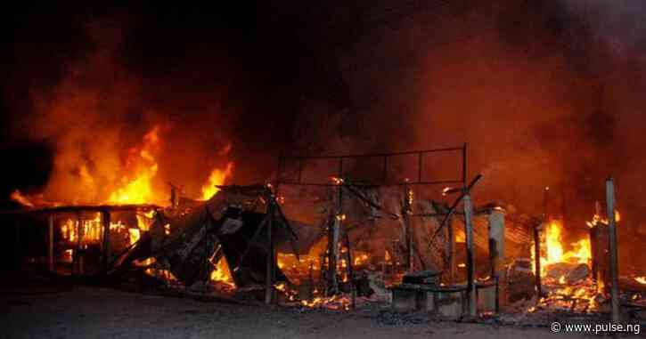 Fire razes shops in Kano market, one escapes death