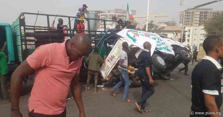 Truck filled with PDP members tumbles, many feared injured