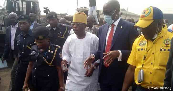 NNPC boss visits Lagos pipeline explosion scene, urges community to expose perpetrators