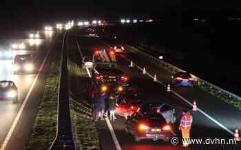 File A7 vanuit Drachten richting Groningen door ongeval meerdere voertuigen