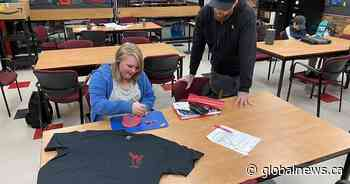 Sherwood Park students creating clothing line to combat addiction and poverty