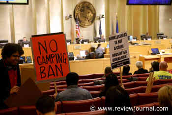 Activists protest Las Vegas' homeless camping ban — LIVESTREAM