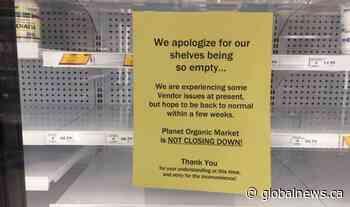 Planet Organic shelves empty as Alberta vendors claim they are owed money