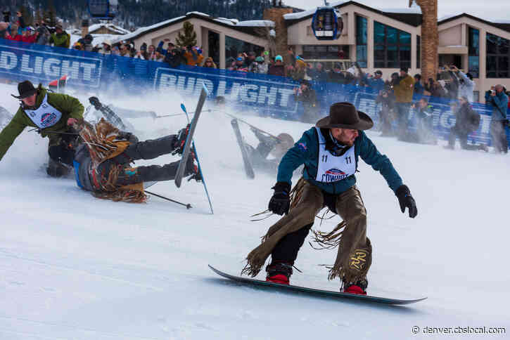 ProRodeo Stars Compete In 46th Annual Cowboy Downhill At Steamboat Resort