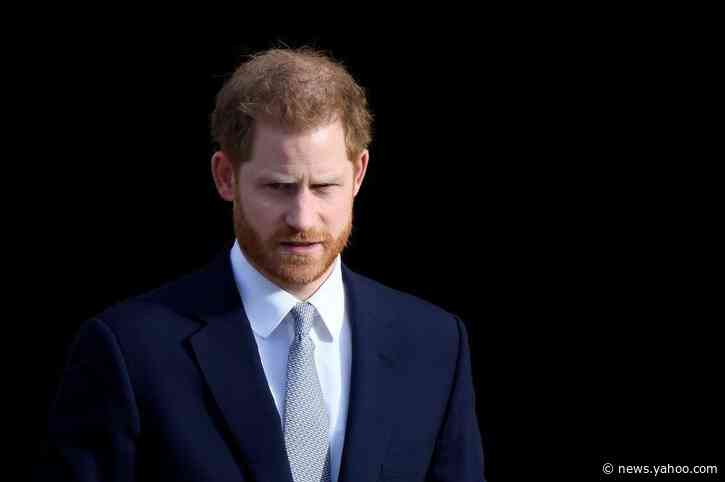 Britain's Prince Harry arrives in Canada