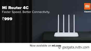 Mi Router 4C With Four Antennas, Up to 300Mbps Speed Launched in India