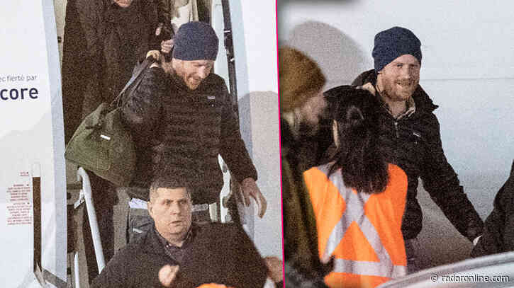 Prince Harry Is All Smiles As He Arrives In Canada To Reunite With Meghan Markle & Archie