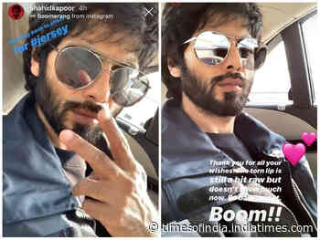 Jersey: Shahid to shoot with an injured lip