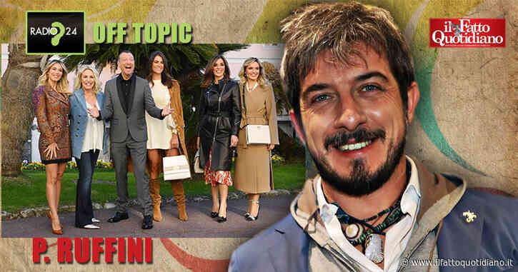 """Sanremo 2020, Ruffini: """"Polemica su Amadeus? Non se ne può più. Ormai i social in Italia sono una fogna. Rivoglio tanto Luttazzi in tv"""""""