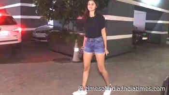 Ananya Panday nails casual chic in black top and denim shorts