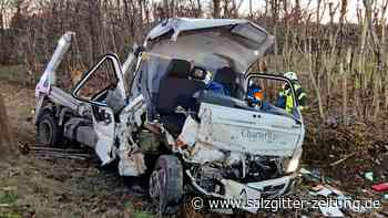LKW bei Didderse gegen Baum geprallt – Fahrer leicht verletzt