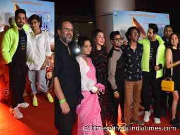 Ayushmann & SMZS team celebrate trailer success