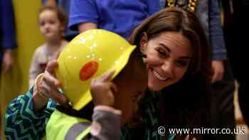 Doting Kate Middleton shows off maternal side as she vows to change kids' lives