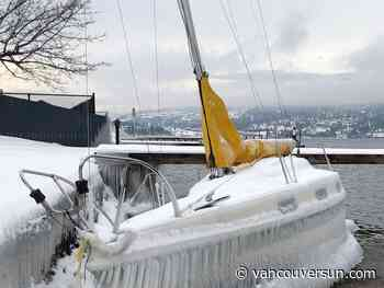 Police look for owner of ice-covered boat found on Okanagan Lake