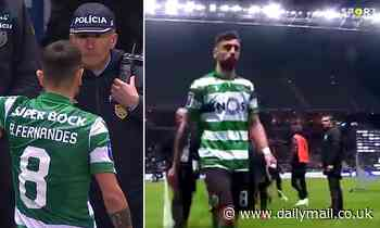 Bruno Fernandes storms down tunnel and shoves camera amid Manchester Utd talks
