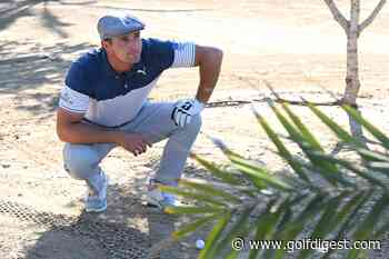 Bryson DeChambeau turns attention away from social-media spats and to his game ... and Dubai street lights