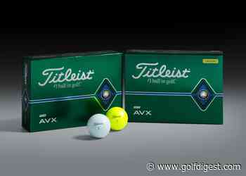 Titleist AVX gets upgrade focused on speed through larger core and thinner urethane cover