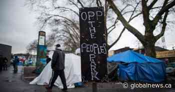 Vancouver mayor says he has plan for Oppenheimer Park campers. He's just waiting for housing