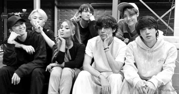 Ariana Grande Shares 2020 Grammys Rehearsal Picture with BTS: 'Look Who I Bumped Into'