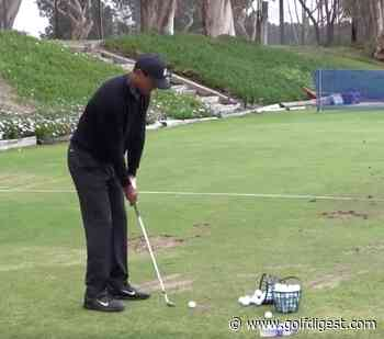 This compilation of Tiger Woods flushing 56 shots on the range in 26 seconds is pure golf porn