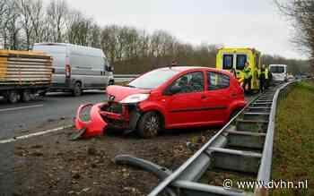 Ongeluk met meerdere auto's leidt tot file op A7 tussen Groningen en Hoogezand