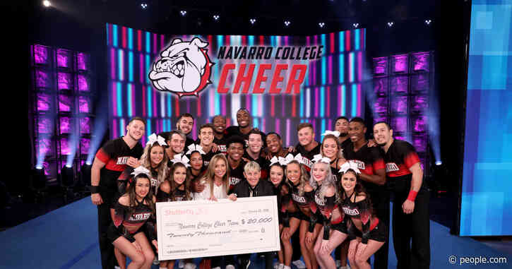 The Team from Netflix's Cheer Performs Winning Routine on Ellen — and Leave with $20,000