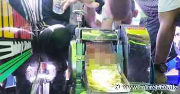 Smoothie seller's hand horrifically mangled in fruit-crushing machine