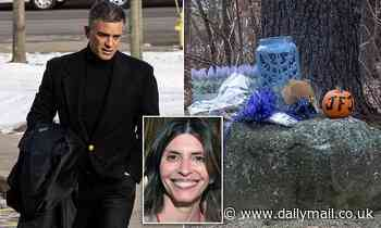 Fotis Dulos is spotted removing items from a memorial to his wife
