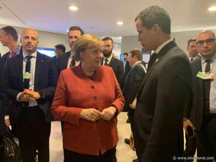 El encuentro entre Juan Guaidó y Angela Merkel en Davos