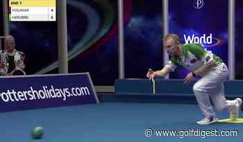 This perfect World Indoor Bowls shot is the most electrifying non-darts sports highlight in British history