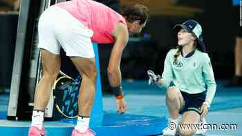 Rafael Nadal hits ball girl in head with shot, apologizes with kiss