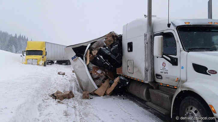Truck Crash In Snowy Conditions On Vail Pass Leads To Interstate 70 Closure