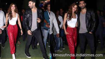 Disha Patani Looks Hot In White Top And Red Jogger Pants As She Promotes Malang With Aditya Roy Kapur Showbizz News Newslocker