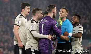 Manchester United hit with £20,000 FA fine over players surrounding referee Craig Pawson
