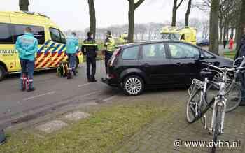 Aanrijding tussen auto en fietser op Exloërweg bij Valthe