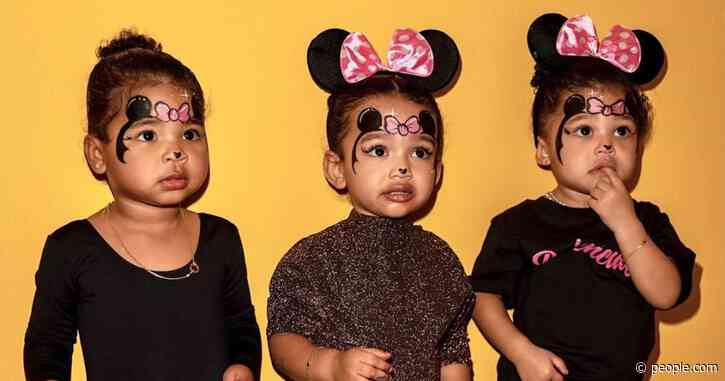 Triplet Minnies! Kim Kardashian Shares Photo of Chicago, Stormi and True in Matching Face Paint