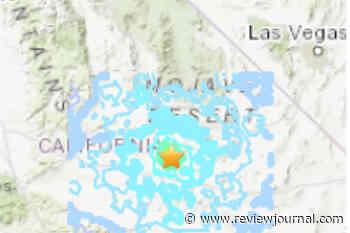 Small California earthquake felt in Las Vegas