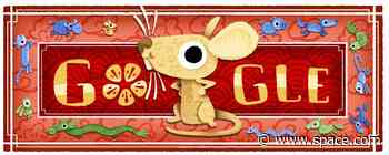 Google doodle celebrates the lunar new year as Year of the Rat begins